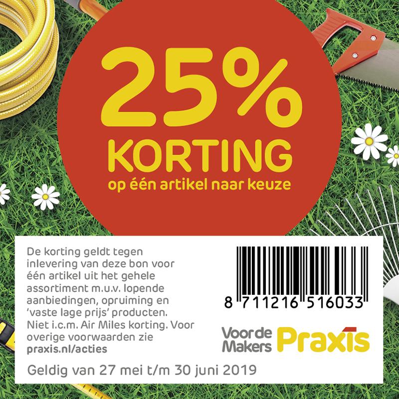 25% korting Praxis t/m 30 Juni @ Praxis