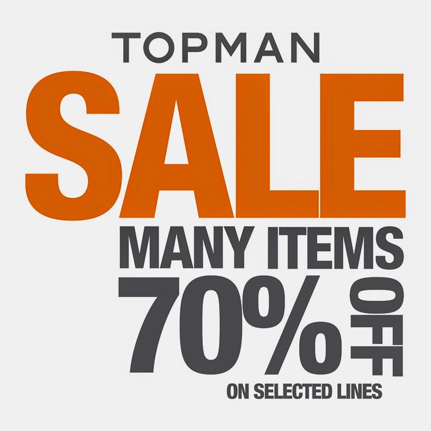 Sale met kortingen tot 70% + 15% + 10% extra korting @ Topman