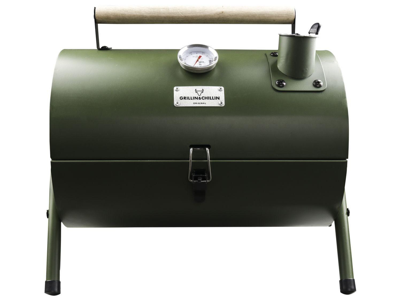 Gusta BBQ rookoven groen @AH (winkel)