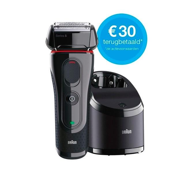 Braun Series 5 5050CC scheerapparaat + €30 cashback. Koopje!