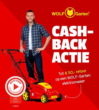 WOLF-Garten - Tot € 50,- cashback op een A-serie elektromaaier