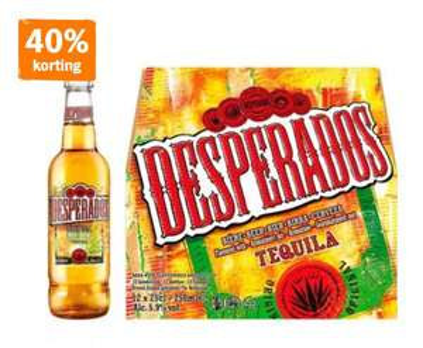 Desperados Regular 12-pack 40% korting @AH XL
