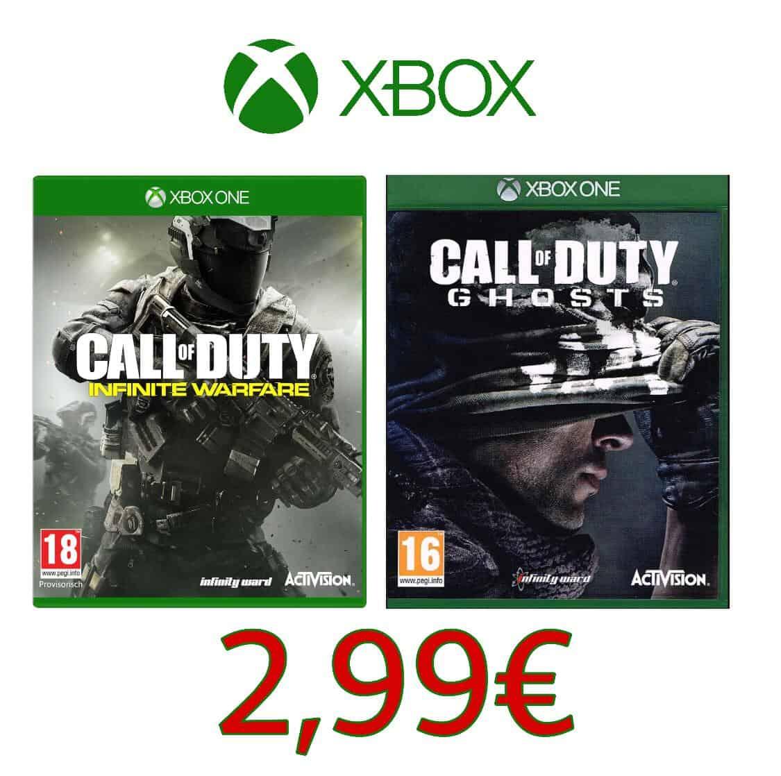 Call of Duty: Infinite Warfare + Call Of Duty: Ghosts (Xbox One) @ Gamesflat