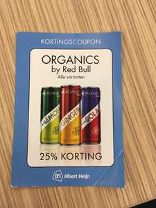 Organice by Red Bull 25% korting