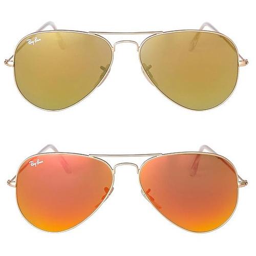 Ray Ban Aviator goud / oranje nu €97,46 @ Wehkamp