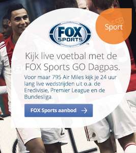 FOX Sports GO Dagpas t.w.v €7,95 voor 795 @ Airmails