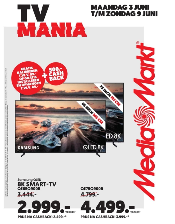 TV Mania van maandag 3 juni t/m zondag 9 juni @ Mediamarkt