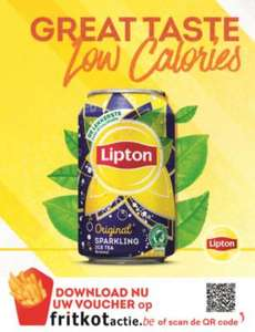 [BE] GRATIS blik Lipton Ice-Tea @frietkot