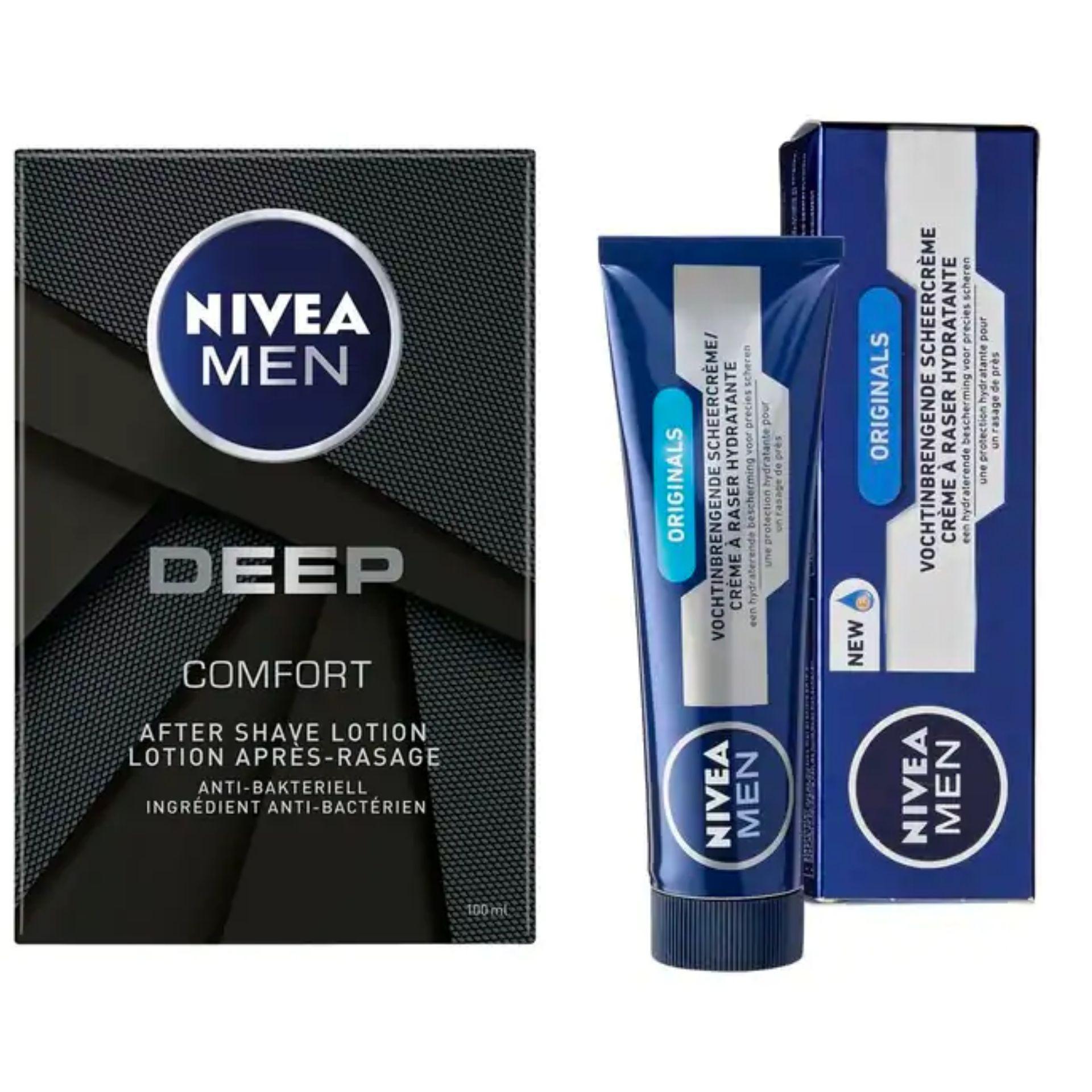 2x Nivea Men Scheercreme + 1x Nivea Men aftershave lotion van €14,73 voor €3,58 in totaal @Kruidvat