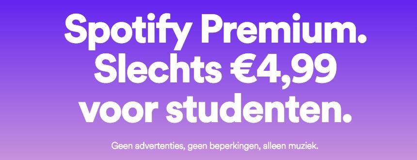 Bespaar 50% op Spotify Premium for Students