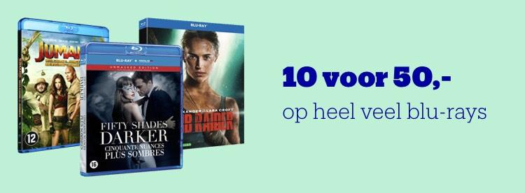 10 Blu-Rays voor €50