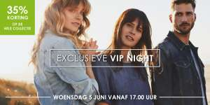 Woe 05-06: VIP-NIGHT: 35% korting op alles @ Jeans Centre