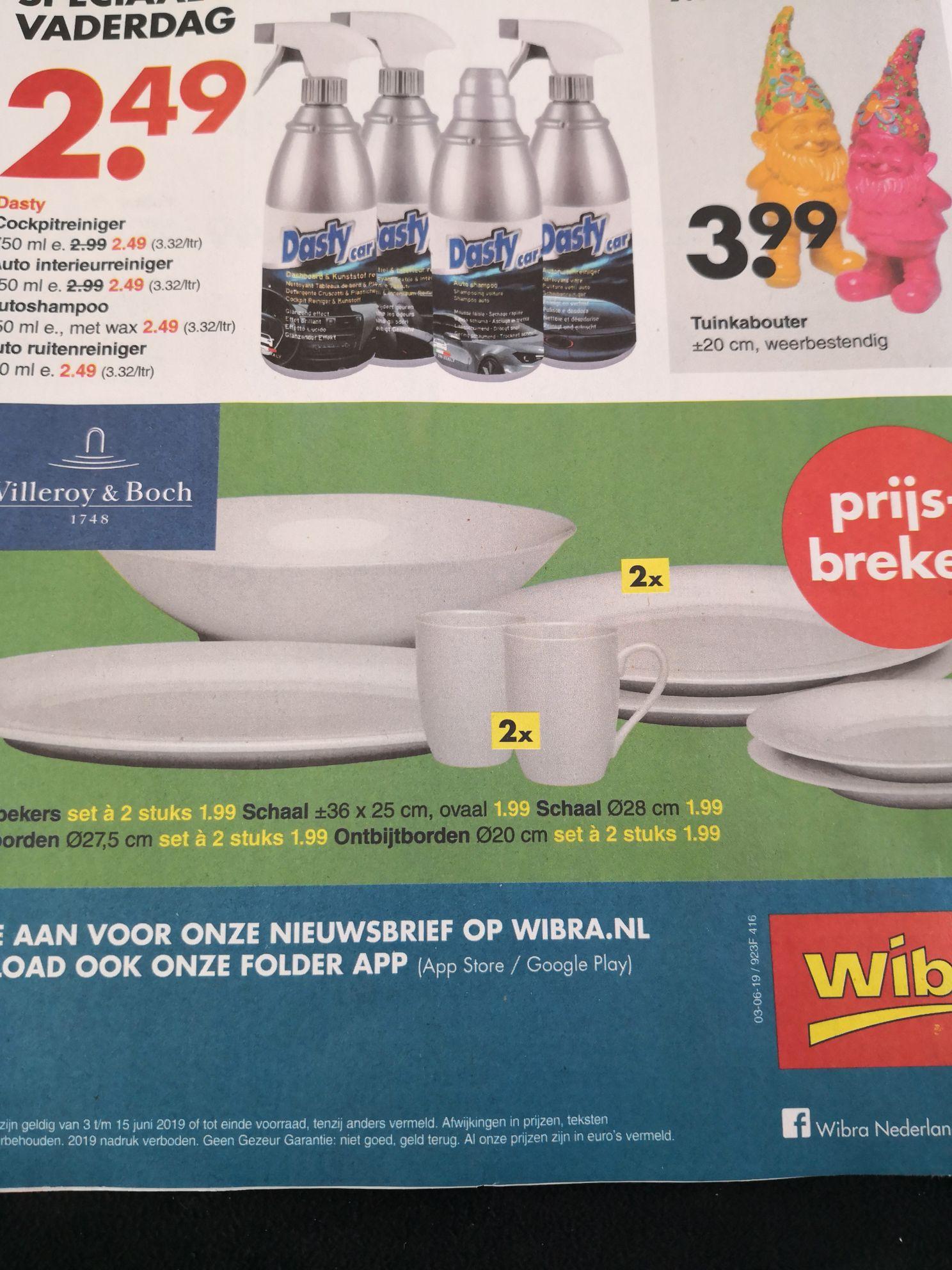 Villeroy & Boch servies 2 voor €1,99