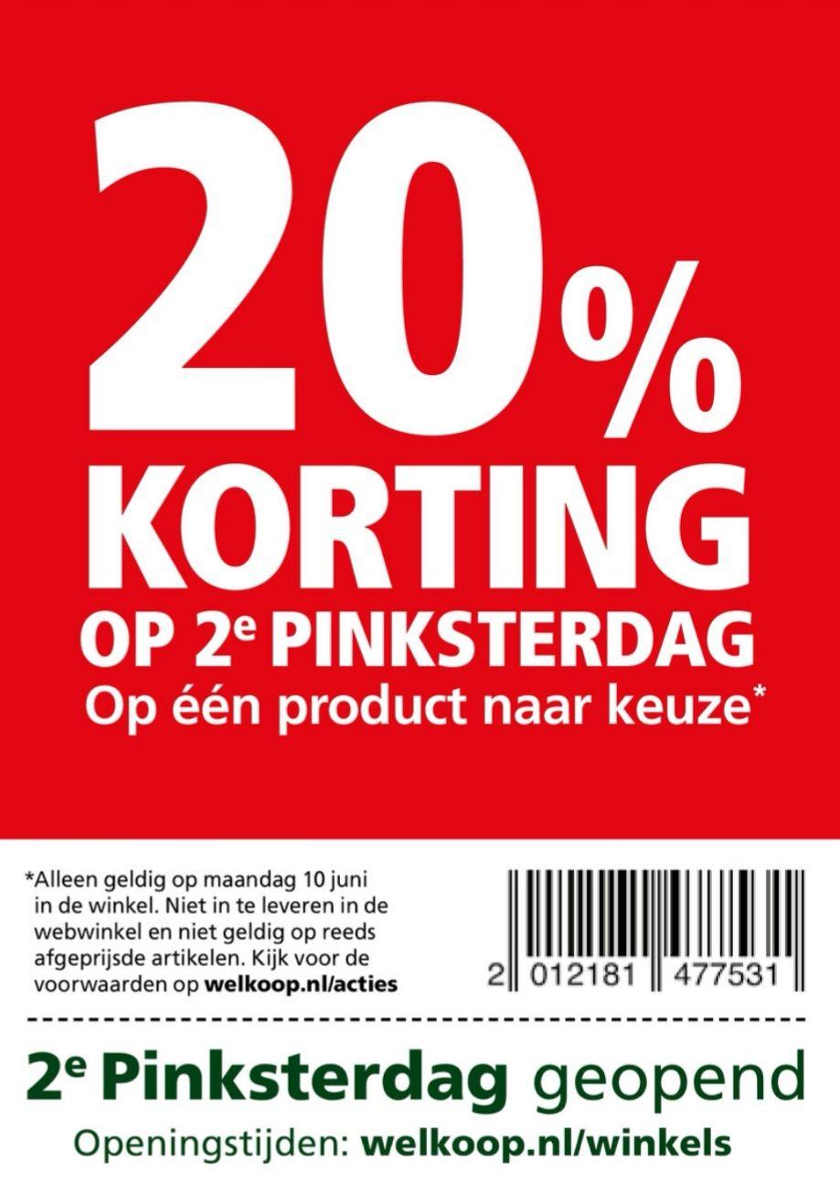 20% korting op een product naar keuze @Welkoop
