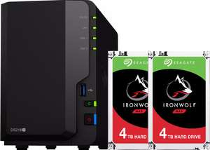 Synology DS218+ en 2x Seagate IronWolf 4TB