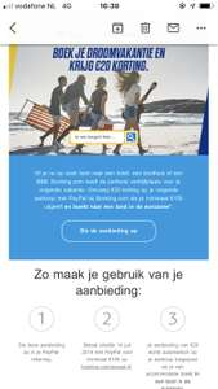 20 euro korting via PayPal bij 150 euro @ Booking.com
