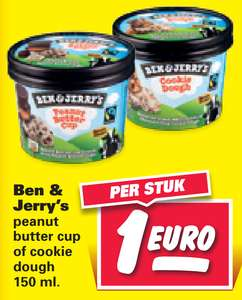 Ben & Jerry's Cookie Dough of Peanut Butter 150ml voor €1