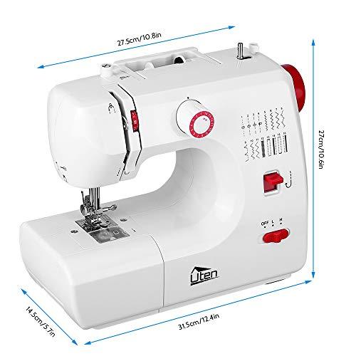 Uten Overlock mini elektrische naaimachine naaigaren klein 16 naaiprogramma's