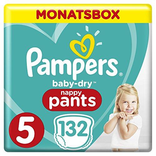 Pampers aanbieding bij amazon.de met abonnement! Bv: Maat 5 pants baby dry 132 st. voor 8,86