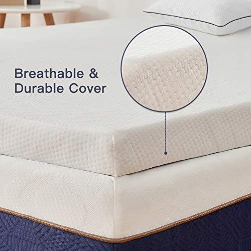 BedStory Viscoschuim Matrastopper, hoogwaardige H2 hardheidsgraad lavendelolie matrasoplegger