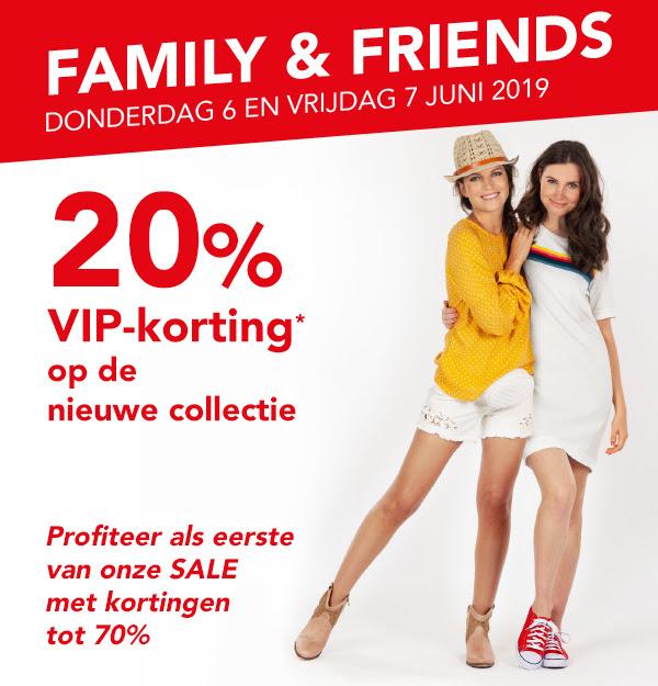 Family & Friends koopavond met 20% korting op de nieuwe collectie en tot 70% korting op de sale @ Bristol