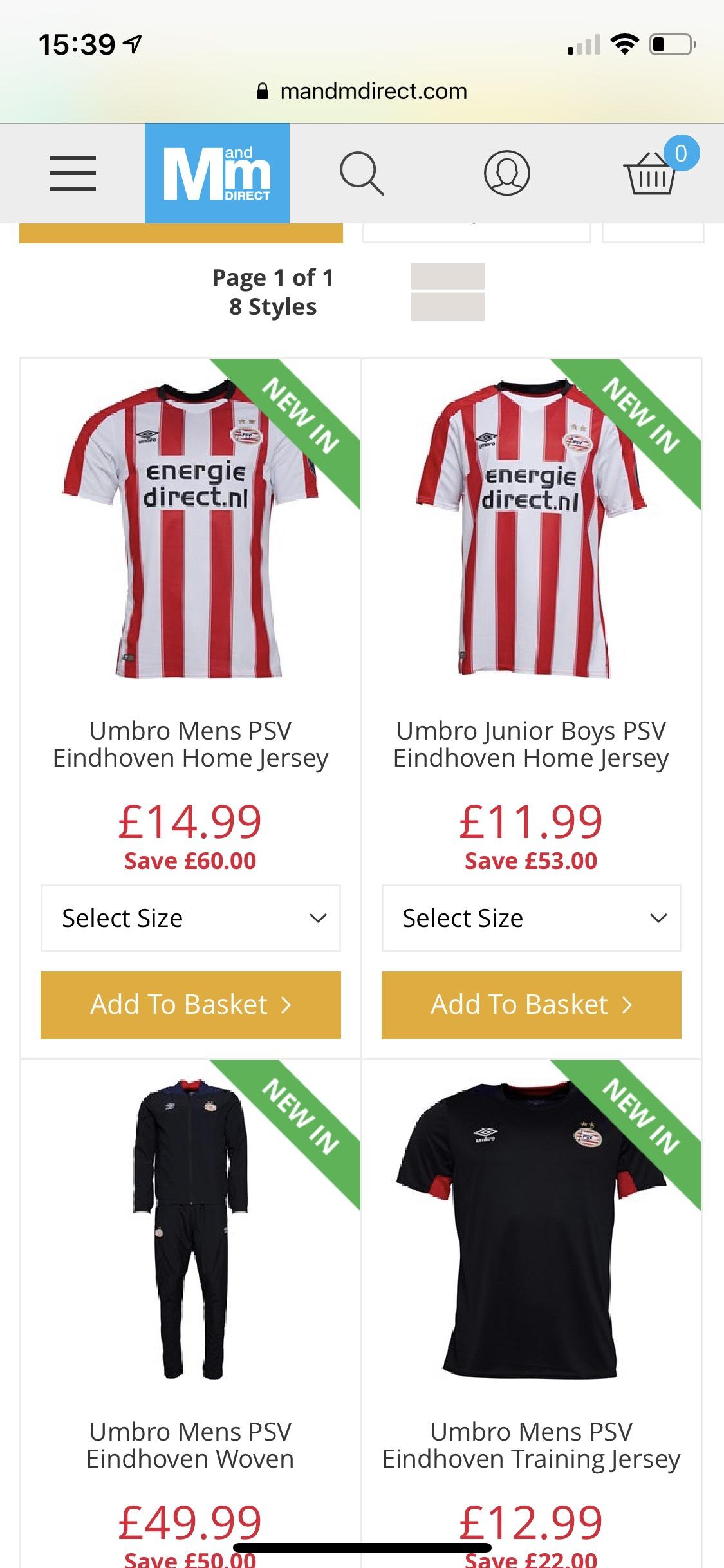 Zeer goedkoop PSV shirt 14,99£