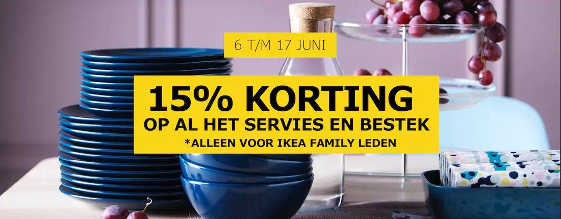 IKEA 15% korting op servies en bestek