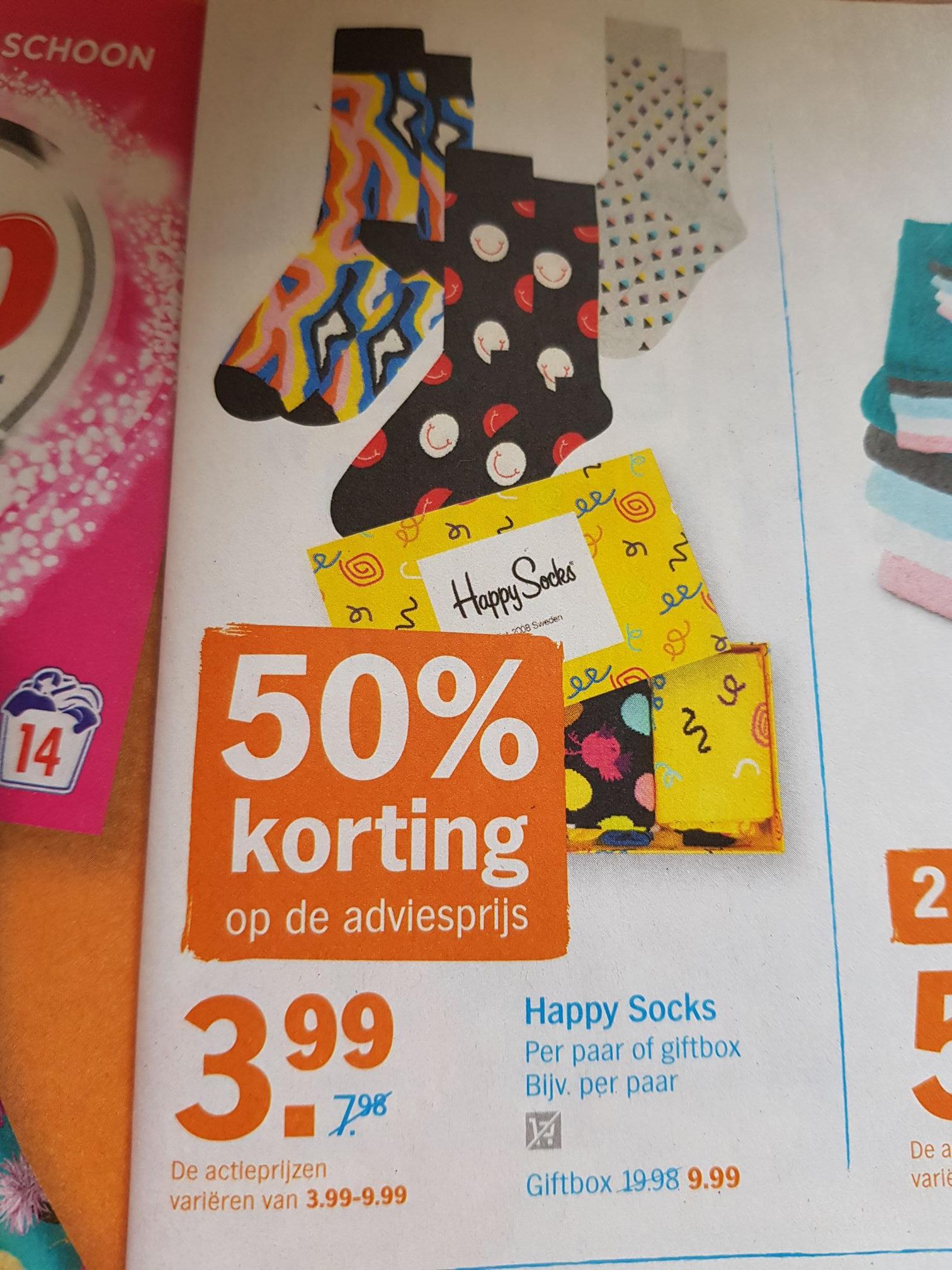 Happy Socks giftbox voor €9,99 bij AH