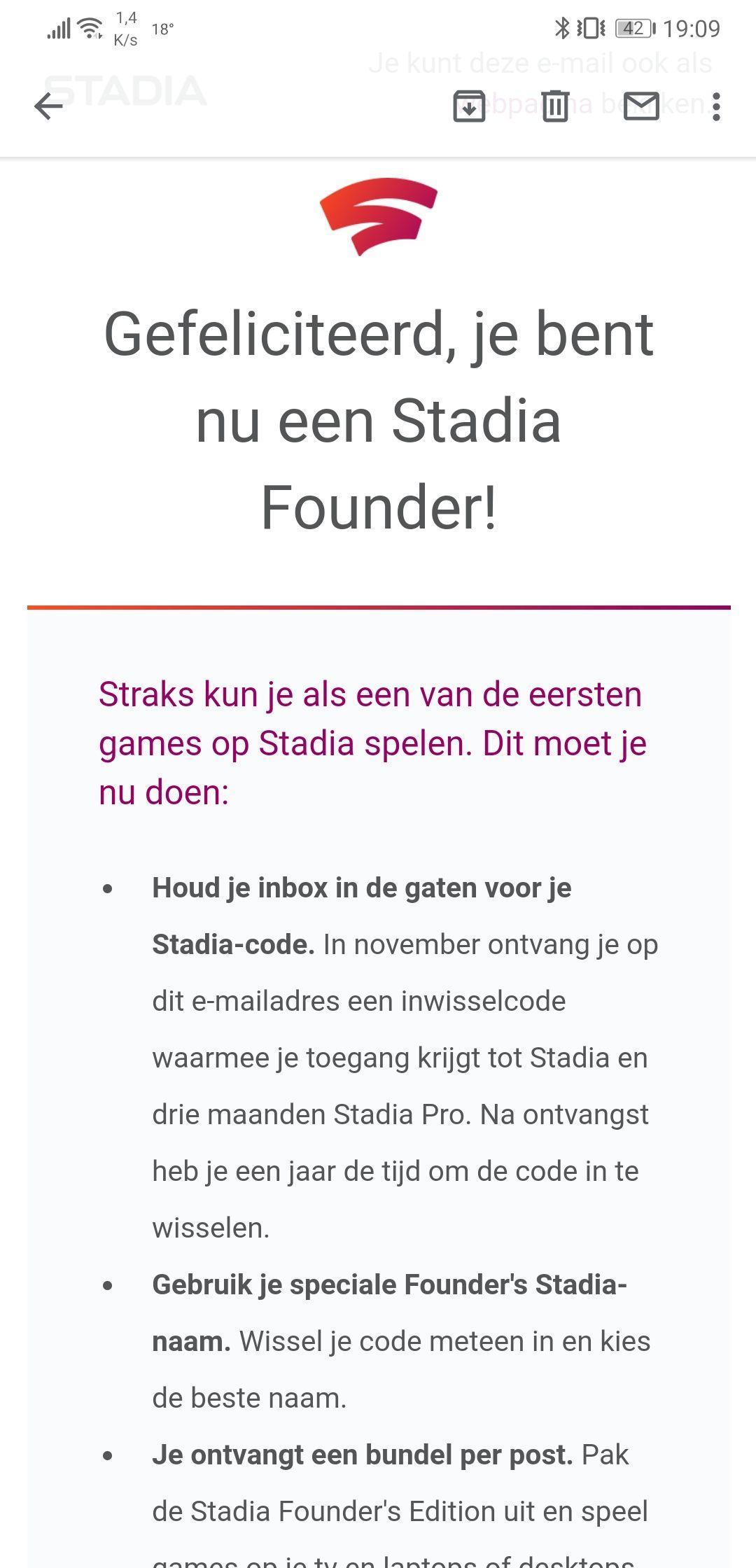 Pre-order Google Stadia Founder pack