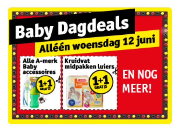Kruidvat 12 juni Baby Dagdeals (alleen  offline)