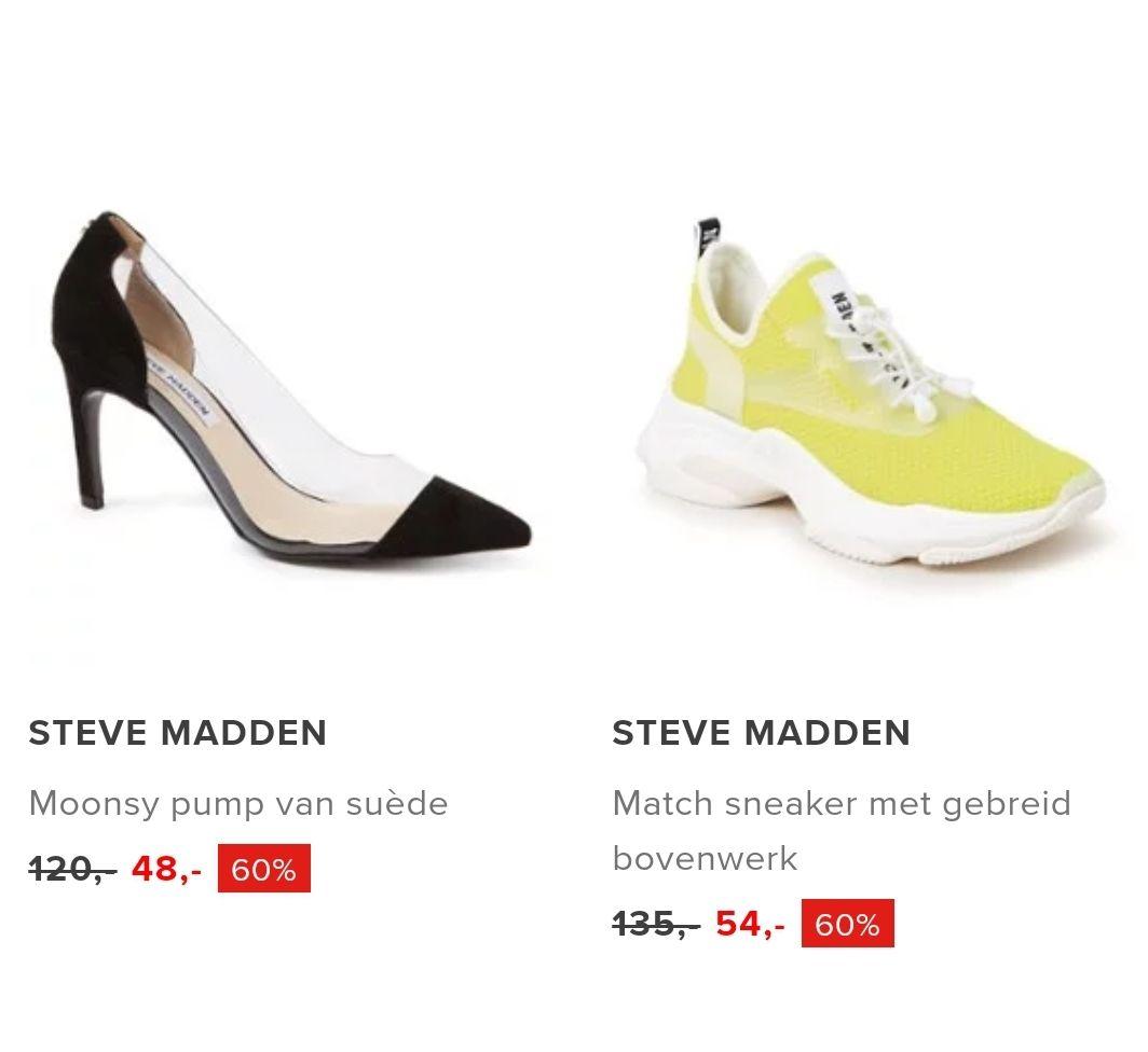 60% korting op schoenen van o.a.Dune London en Steve Madden bij Bijenkorf (gratis verzending)