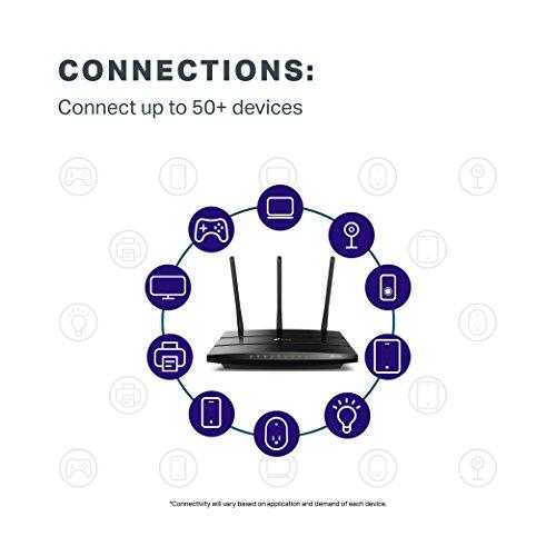 TP-Link AC1750 Slimme WiFi Router - Draadloze internet router, Werkt met Alexa, VPN Server,