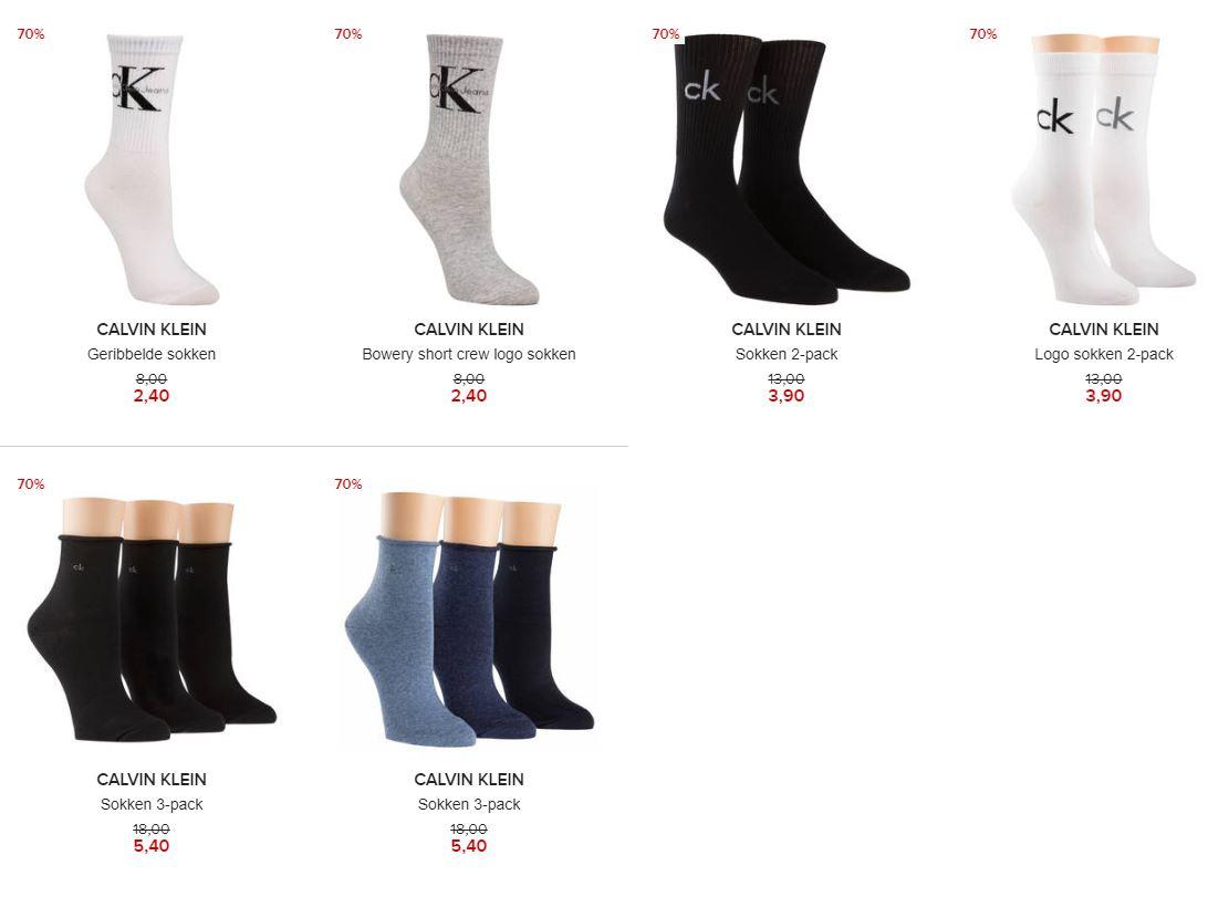Calvin Klein sokken -70% (va €2,40) @ Hudson's Bay