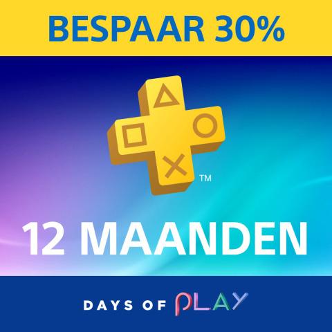 PlayStation®Plus: 30% korting op een lidmaatschap van 12 maanden @ PSN