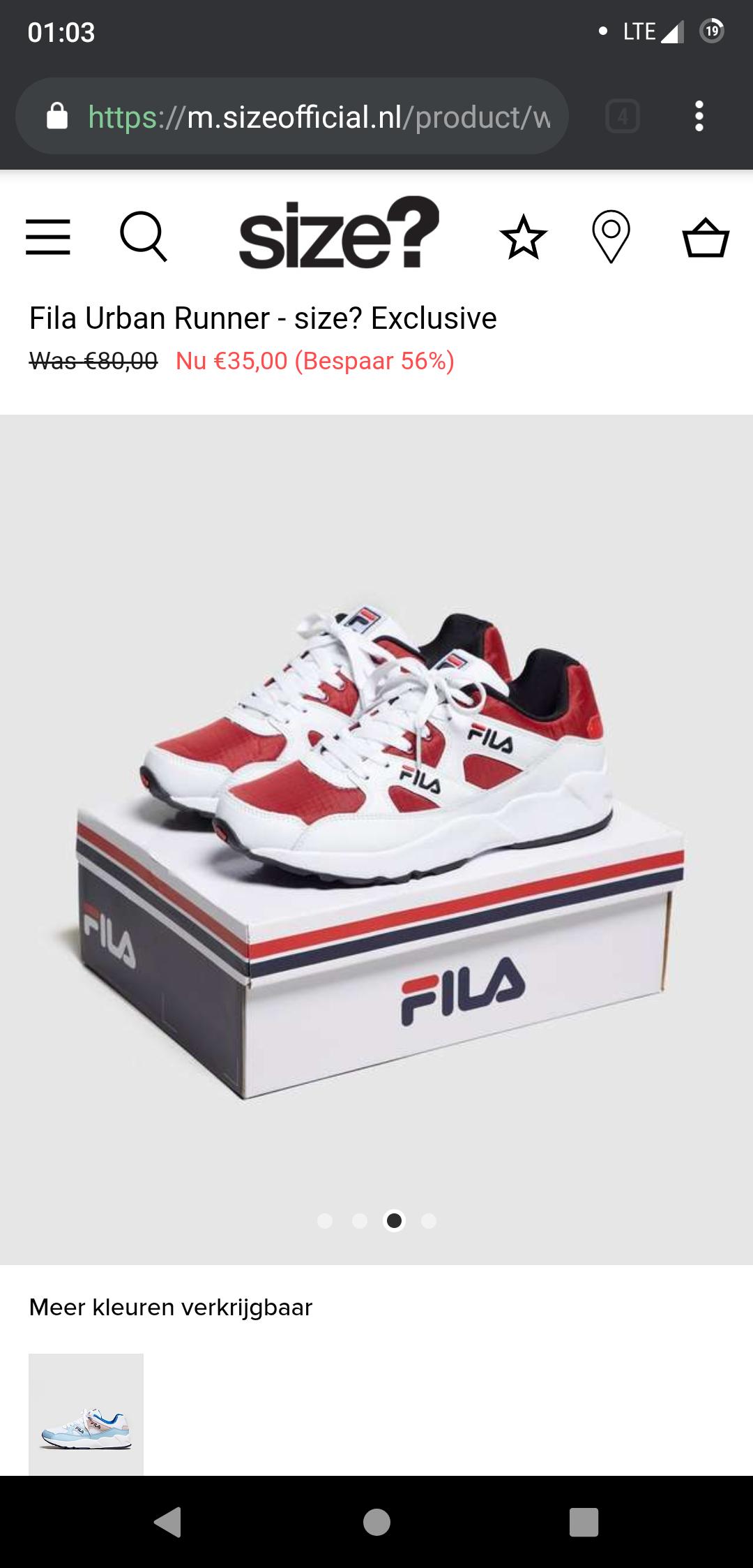 Retro Fila Sneakers Urban Runner
