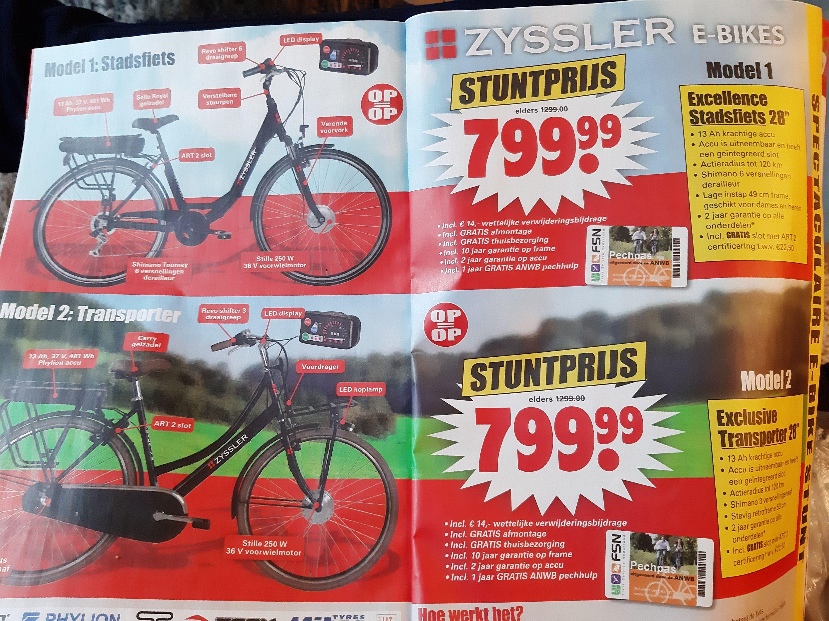 Zyssler e bikes nu ook bij Dirk supermarkt