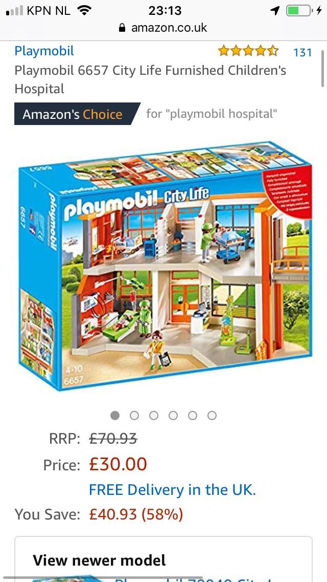 Playmobil 6657 ingericht kinderziekenhuis