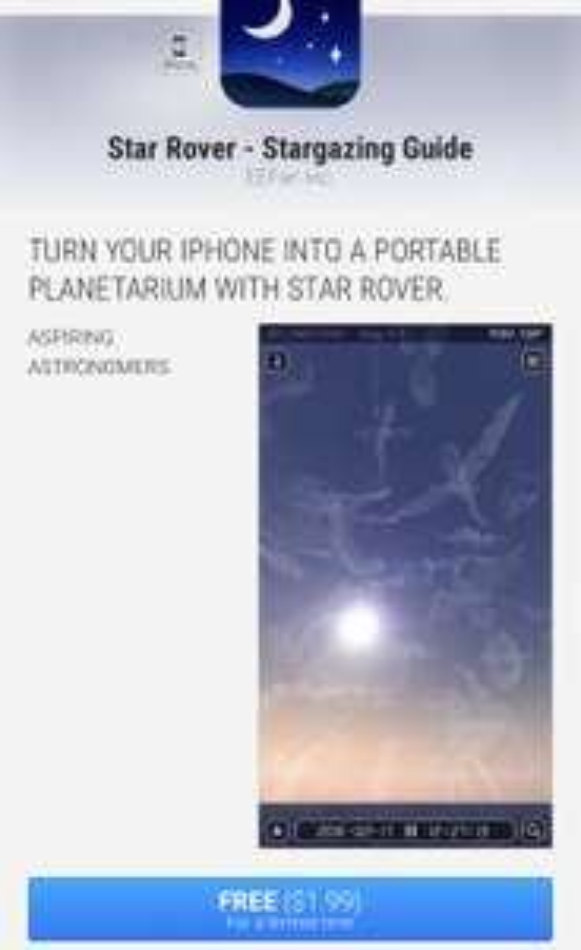 Star Rover (HD) - Sterren app tijdelijk gratis!
