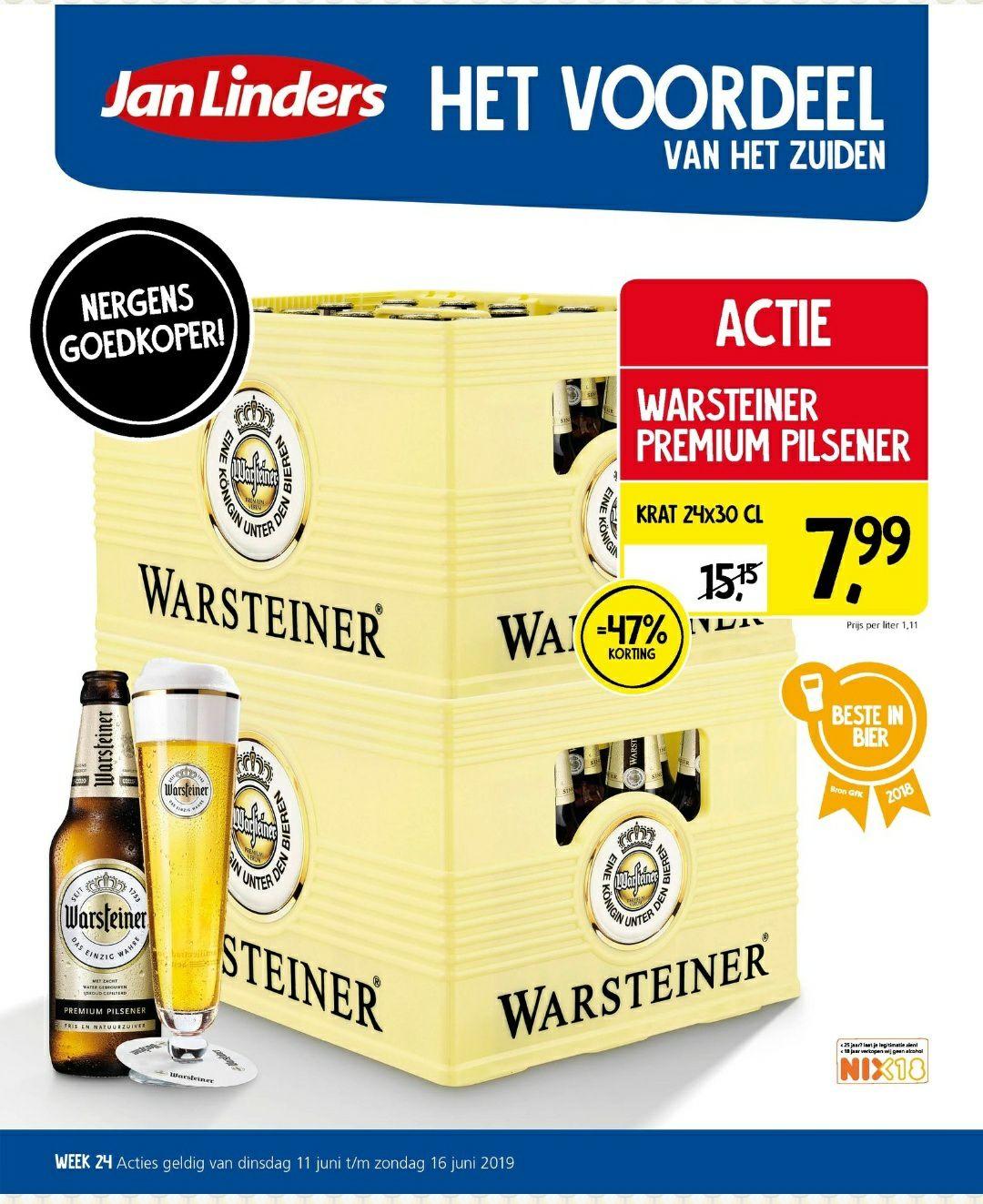 Warsteiner Premium pilsener 24 x 30cl @Jan Linders