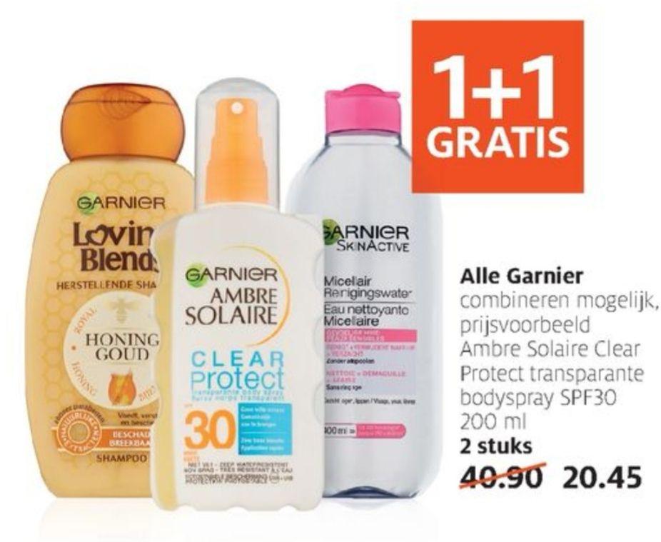 1+1 gratis Garnier bij Etos