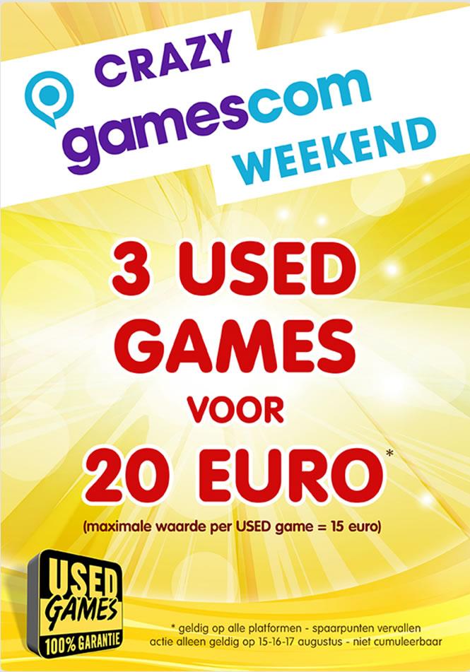 3 used games voor €20 (max. waarde €15 per stuk!) @ Game Mania