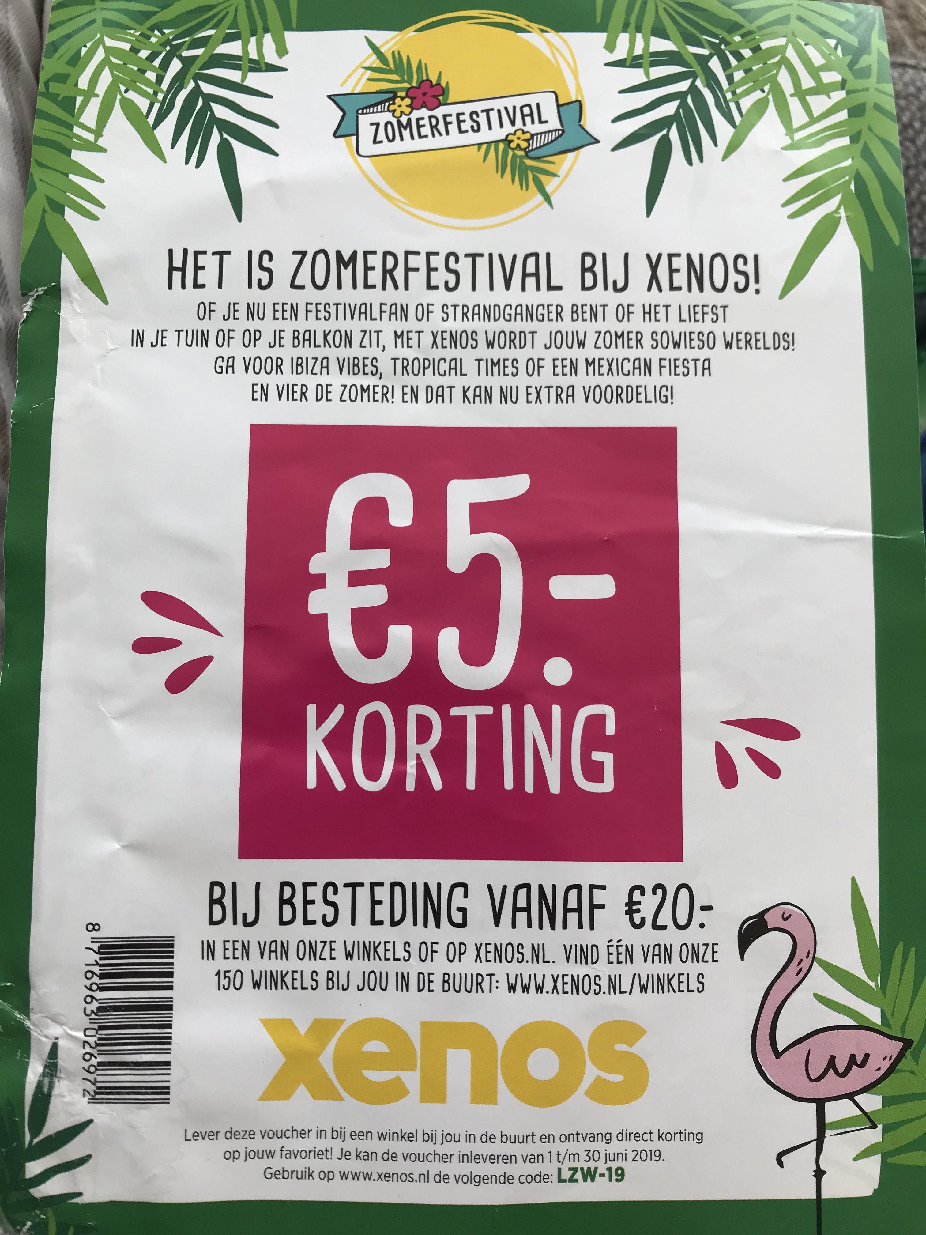 €5 vanaf €20 bij Xenos