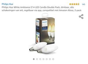 [Amazon.de] Philips Hue E14 candle white ambiance 2-pack