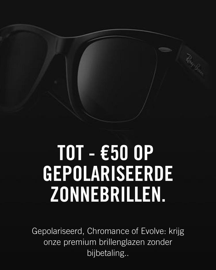 Tot €50 korting op gepolariseerde zonnebrillen @Ray-ban