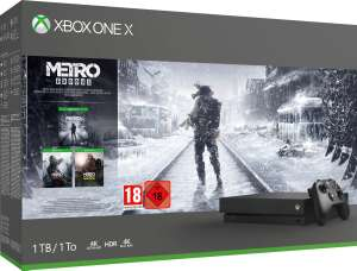 Xbox One X console 1 TB + Metro Exodus Bundle @Amazon.de