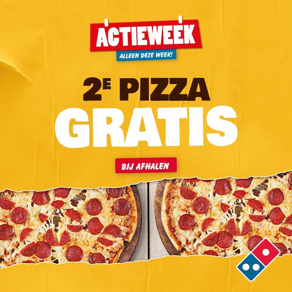 (Actieweek) 2e Pizza Gratis Bij Afhalen @ Domino's