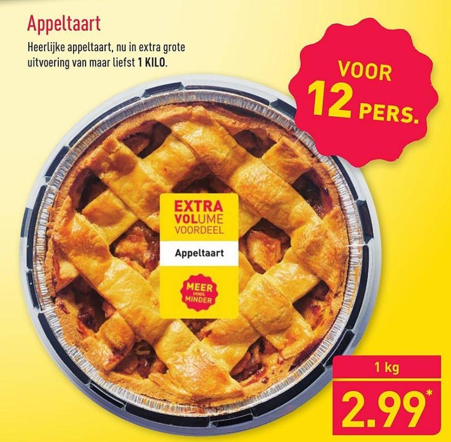 1 KILO Appeltaart voor €2,99 @Aldi