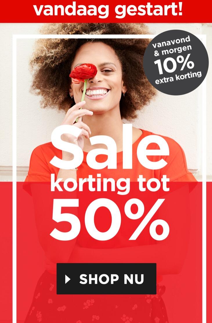 Miss Etam t/m morgen 10% extra korting op sale