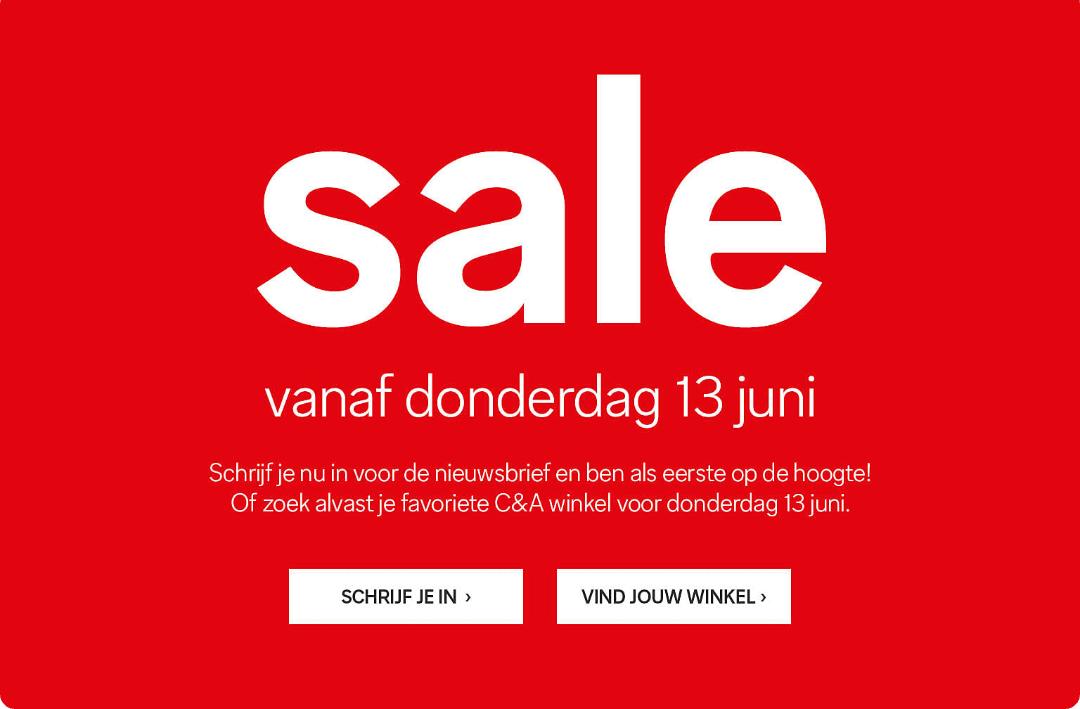 Sale bij C&A (online tot 50%)