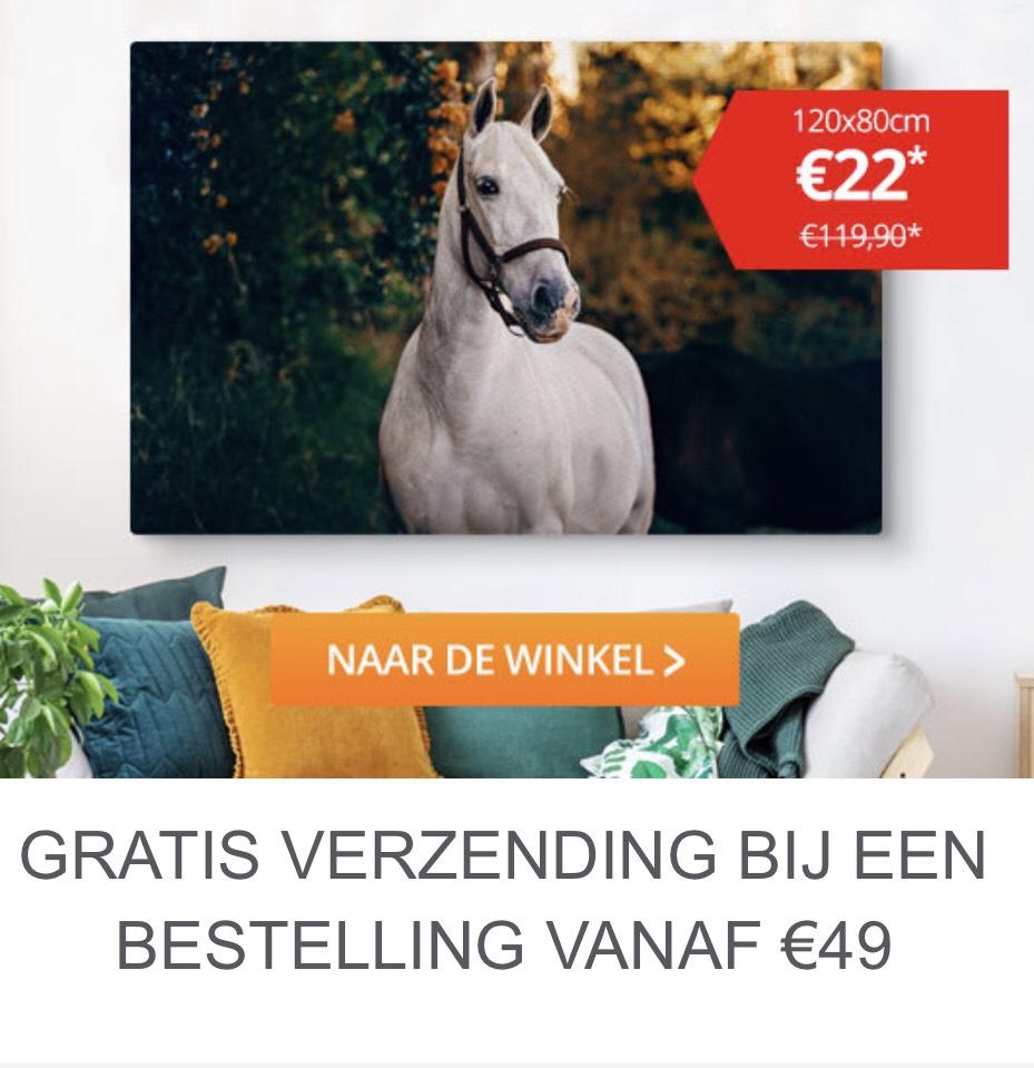 Beste Canvas Foto op XXL Canvas voor €22